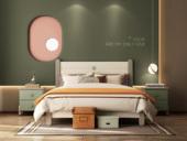 梓华轩 简美 卡慕斯系列 泰国入口橡胶木 安康环保 1.5*2.0儿童床