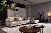 A020#瑞德家居 风气系列 意式极简气概 纳帕真皮转角沙发(1+3+左贵妃)