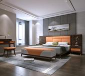 B803#瑞德家居 东迪 北欧村落气概 洋蜡木框架 床屏1.8m床