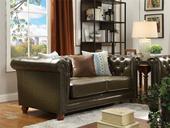 101#瑞德家居 普罗旺斯系列 简美气概 实木框架 皮艺沙发两人位