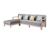 V655#瑞德家居 愉情北欧系列 北欧气概 洋蜡木框架  功效沙发床 布艺转角(3+右转角)