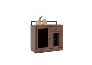 906A#瑞德家居  系列  新中式气概  金檀色  小乌金    茶水柜