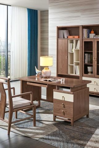 B300#瑞德家居  北欧气概 洋蜡木+E1板  书桌