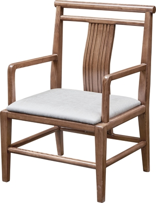 B300#瑞德家居  北欧气概 洋蜡木 书椅