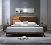 B802#瑞德家居 东迪 北欧村落气概 洋蜡木框架  1.8m 床