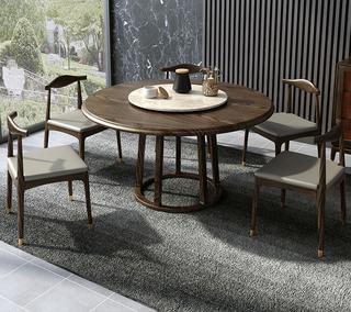 B803#瑞德家居  北欧乡村风格 白蜡木框架  1.3m圆餐桌