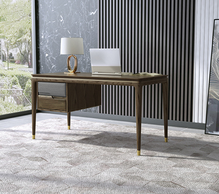 B801#瑞德家居  北欧乡村风格 白蜡木框架  书桌