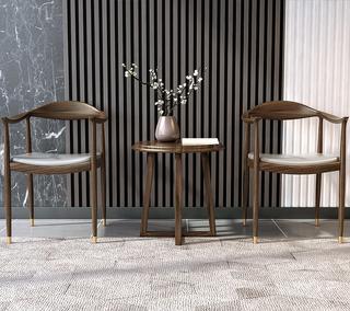 B803#瑞德家居  北欧村落气概 洋蜡木框架  总统椅/书椅