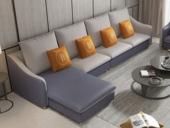 【纾康】X1910A (1+2+右脚踏)古代气概 科技布面料 多种组合、配色沙发套装