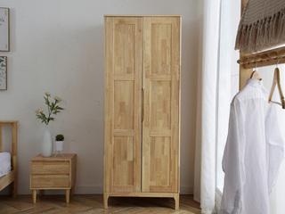 北欧气概 原木色  两门衣柜