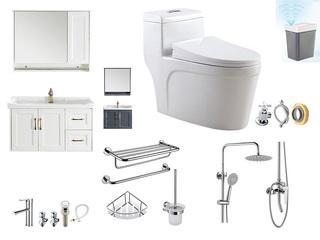 1号特惠卫浴套装 (象牙白,浴室柜70cm,马桶400mm)