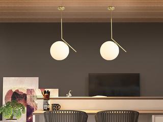 北欧 铜本性8826-1Φ20餐吊灯(含E14尖泡5W暖光)