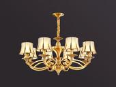 凯顿星月 欧式MC051-8H铜灯 8头吊灯(包邮)(不含光源)