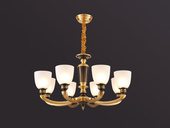 凯顿星月 欧式MC569-8H铜灯 8头吊灯(包邮)(不含光源)