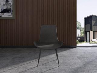 极简气概 H1006餐椅高等环保PU皮加黑砂脚架餐椅