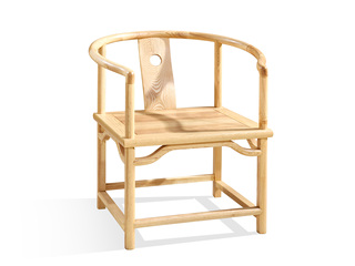 中式气概 北美入口洋蜡木圈椅
