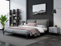 奢工 潮品系列 极简气概 808床 1.8*2.0米 灰色 皮艺床