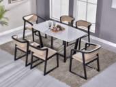 纳德威 古代繁复 洋蜡木底坐 面是大理石餐桌