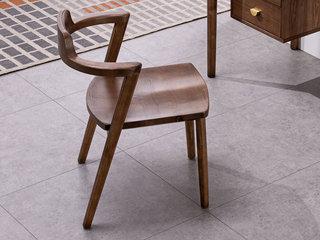 北欧气概 北美入口洋蜡木 书椅