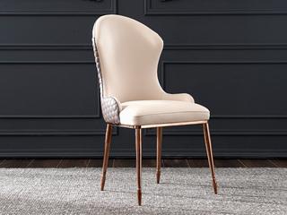 轻奢气概 优良超纤皮 入口优良实木餐椅(单把价钱 需双数采办 双数不发货)