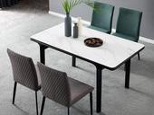 洛林菲勒 极简气概 实木脚 岩版 1.6米餐台