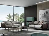 洛林菲勒 极简气概 科技布+压纹皮 羽绒 实木底框架 沙发组合(2+3)