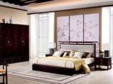 墨舍 新中式 西北亚入口红檀木 真丝靠包W976 1.8米床