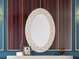 轻奢气概 优良超纤皮 优良实木 加厚玻璃镜 镜子