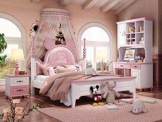 简美气概 优良橡胶木 环保安康 坚忍耐用 孩子安心睡 1.5m儿童床