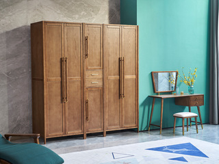 北欧气概 精选洋蜡木 清楚木纹 雀跃大气 实木臻品 安定承重 双门衣柜(左边)