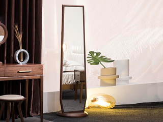 意式极简 清楚自然木纹 细致胡桃木 1.6m穿衣镜
