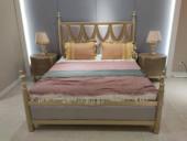 美克世家 简美气概 北美入口榉木坚忍框架 皮艺 松木床板条床 1.8*2.0米床