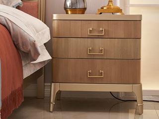 简美气概 北美入口榉木坚忍框架 床头柜