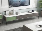 纳德威 极简 易洁净 维多利亚白 岩板 电视柜