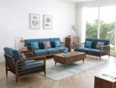 荣之鼎 北欧气概 优良泰国入口橡胶木 高密度海绵软包 轻奢沙发 雀跃厚重 沙发组合(1+2+3)