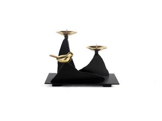 新中式气概 铜+铁艺 烛台