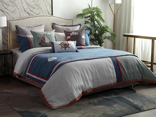 鼎力海员 床品四件套(含1对枕套、1条被套、1条床单)(不含芯)