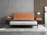 艺家 极简气概 橙色 靠背打仗面优良超纤皮 1.8*2米 Y226床奢华款床