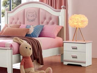 古代繁复 主材樱桃木+洋蜡木 大宝环保水性漆 全实木床头柜
