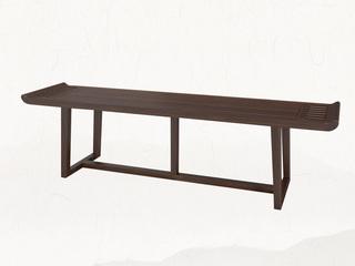新中式 乌金木 JRZS-1001-床尾凳
