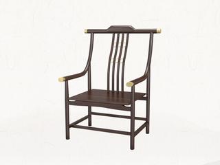 新中式 乌金木 JRZS-1002-仆人椅