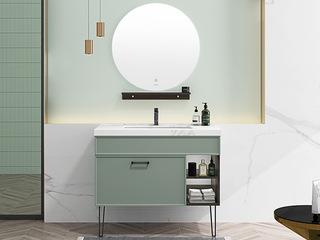 【包邮 送货到家】 轻奢气概 岩板台面 智能镜灯 80CM 浴室柜套装(龙头需零丁采办)