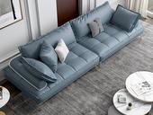 慕梵希 轻奢气概 全实木框架 四人位 科技布沙发