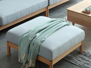 北欧风格 榉木坚固框架 棉麻布艺 原木色 脚踏
