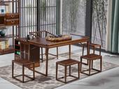 志盛木业 中式风格 北美进口白蜡木 胡桃色茶桌