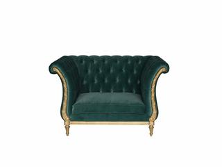 法式风格 欧洲进口榉木 桃花芯 柔软座包 饱满不易塌陷 花苞型 单人沙发