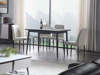 极简风格 超白钢化面玻璃 拉伸功能款 餐桌