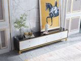 卡罗亚 轻奢风格 钢化玻璃台面 黑白色 2.0米电视柜