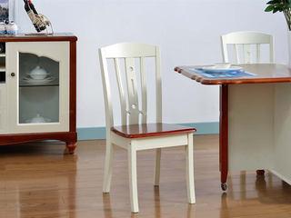 泰国进口橡胶木实木 镂空靠背 双色拼接 地中海风格餐椅