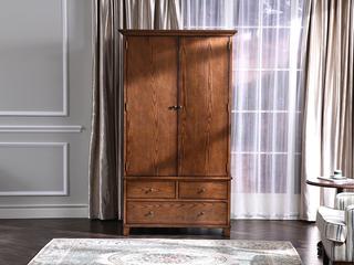 丹饰林 北美进口红橡嘉宝莉环保漆简美衣柜